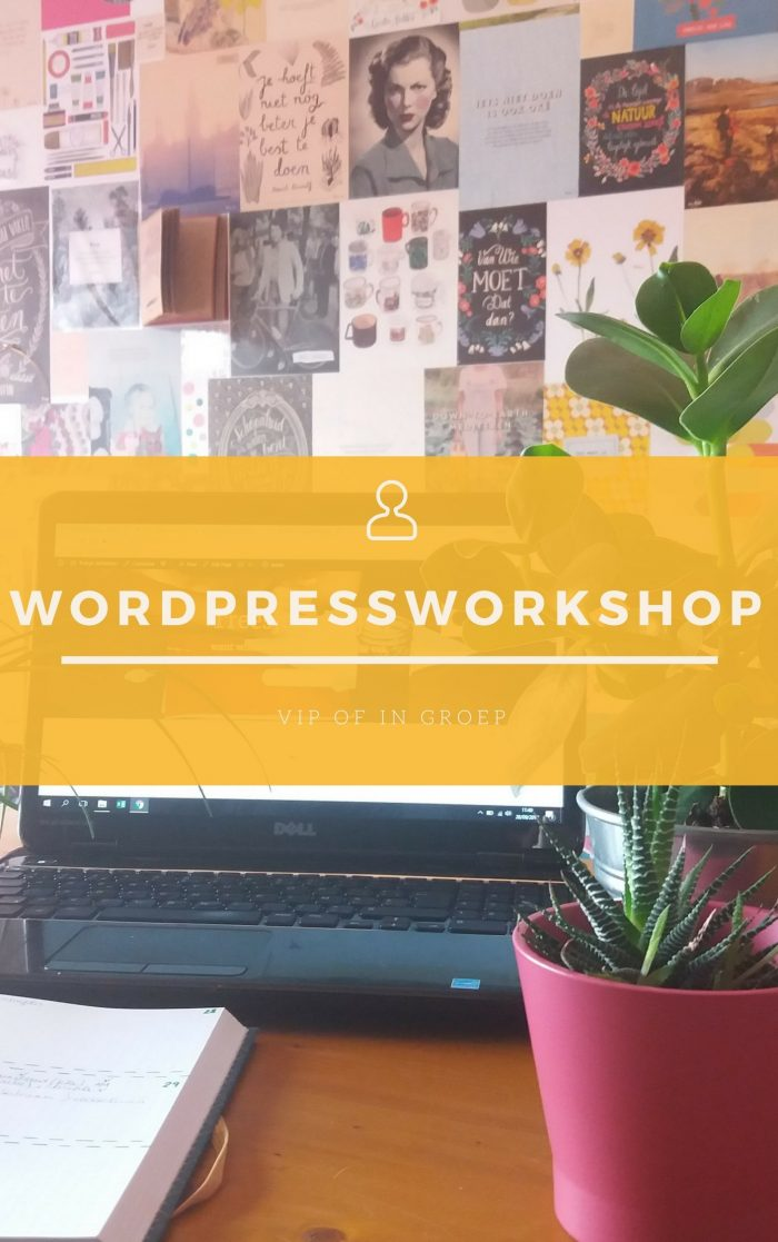 WordPressworkshop - Volg een workshop in WordPress, in je eentje of in groep!
