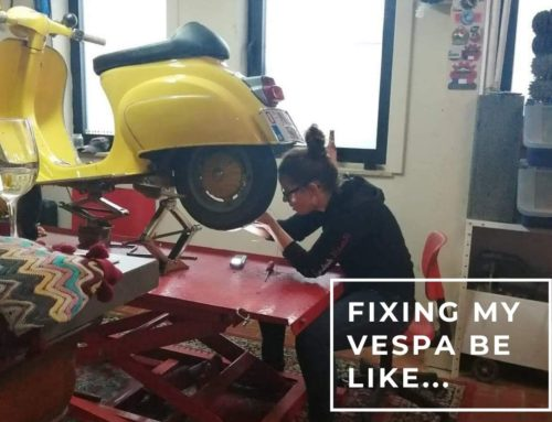Fixing my Vespa be like…